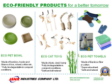 Eco Bowls, Cat Toys and Towels